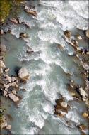 Горная река вид сверху