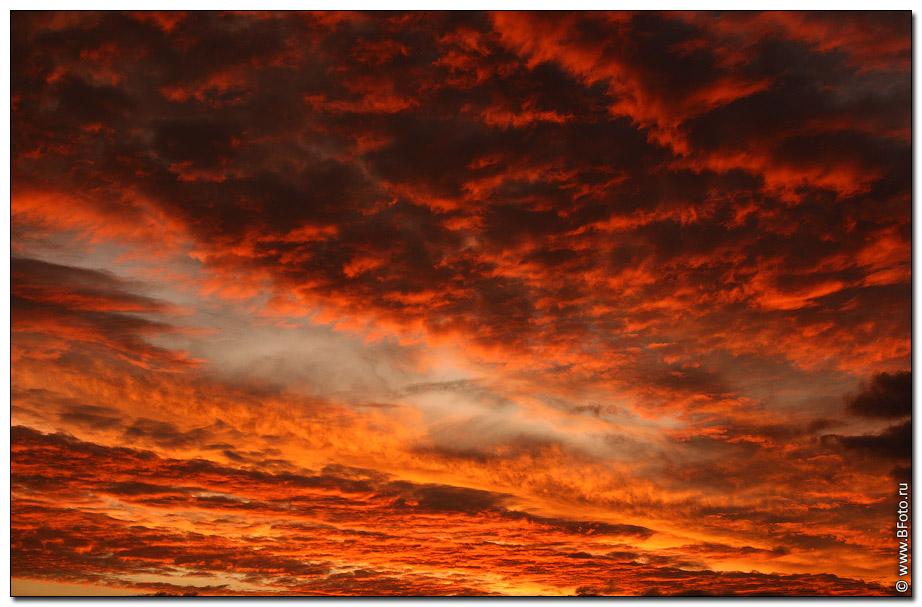 фото закатное небо