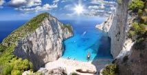 Песчаный пляж на Греческом острове