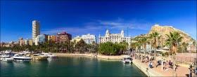 Панорама города Аликанте в Испании