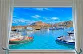 Фотообои красивый вид из окна на море