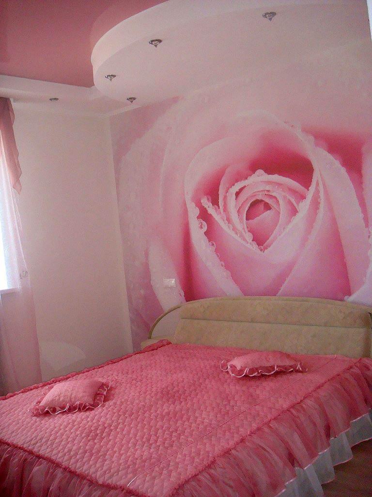 Фотообои розы в интерьере фото