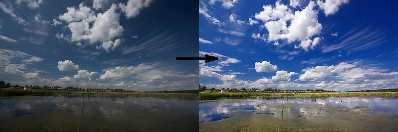 adobe photoshop1 Поляризационный фильтр при фото и видео съемке пейзажа