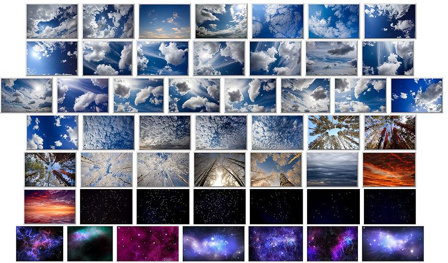 natyagnie potolki Натяжные потолки 3Д «Небо с облаками»: плюсы и особенности применения