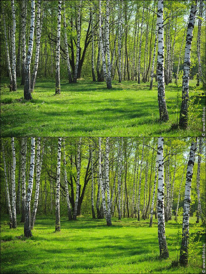 polarizing filter Поляризационный фильтр при фото и видео съемке пейзажа